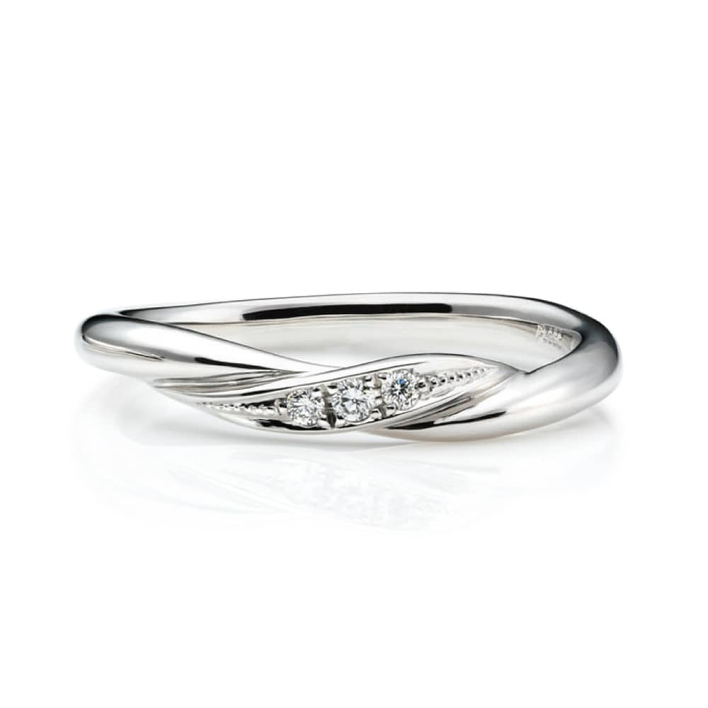 'swing note' Marriage Ring プラチナ950